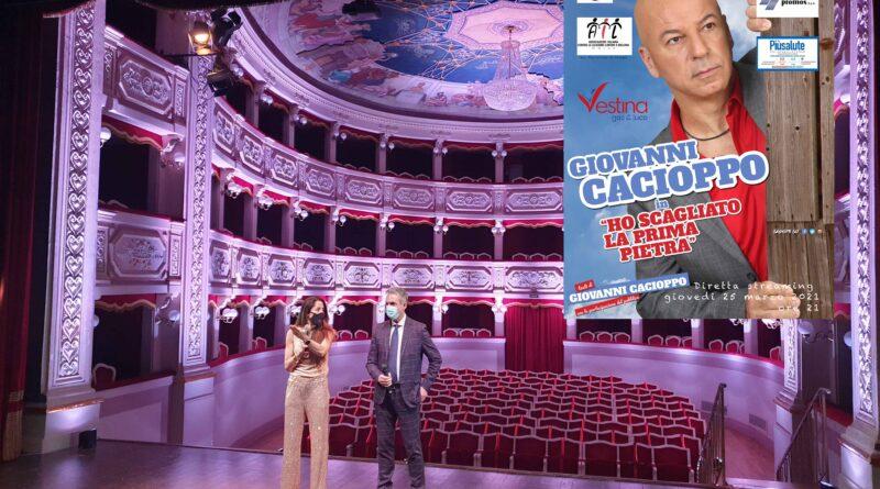 Giovanni Cacioppo per AIL Teramo in diretta streaming giovedì 25 marzo ore 21